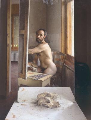 Eduardo Naranjo - Yo Pintando en Julio el Craneo de un Perro 1985-1991