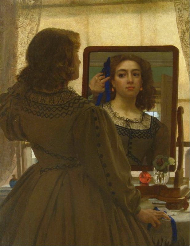 Edward John Poynter - The Bunch of Blue Ribbons 1862 Royal Academy