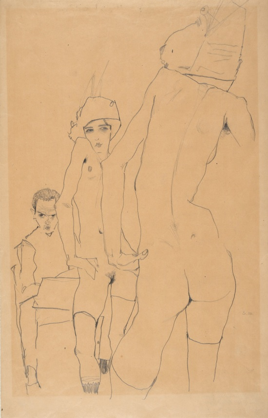 Egon_Schiele_-_Schiele_with_Nude_Model_before_the_Mirror,_1910_-_Google_Art_Project