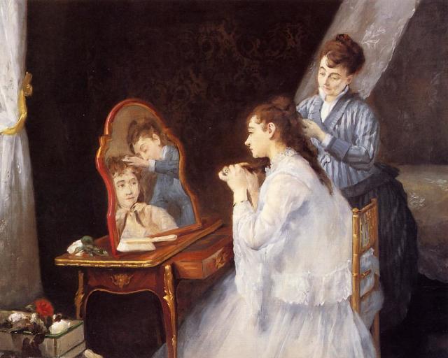 Eva GONZALES Le Petit Lever ou La Toilette 1875 Collection particuliere