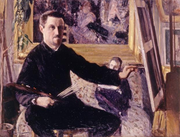 G.Caillebotte_-_Autoportrait_au_chevalet 1879-80, Coll part