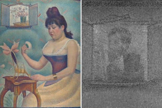 GeorgesSeurat Jeune femme se poudrant 1889-90