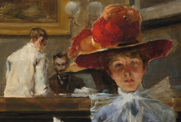 Irving Ramsey Wiles - The Corner Table (1886) dialogue