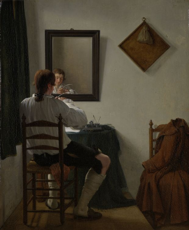 Jan Ekels the Younger  A Writer Trimming His Pen 1784 Rijksmuseum Amsterdam