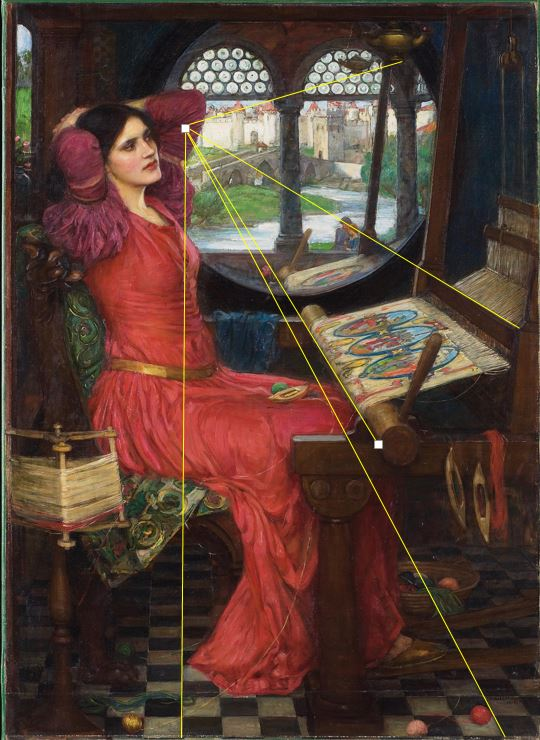 John William Waterhouse I am half-sick of shadows said the Lady of Shalott  (1915) perspective