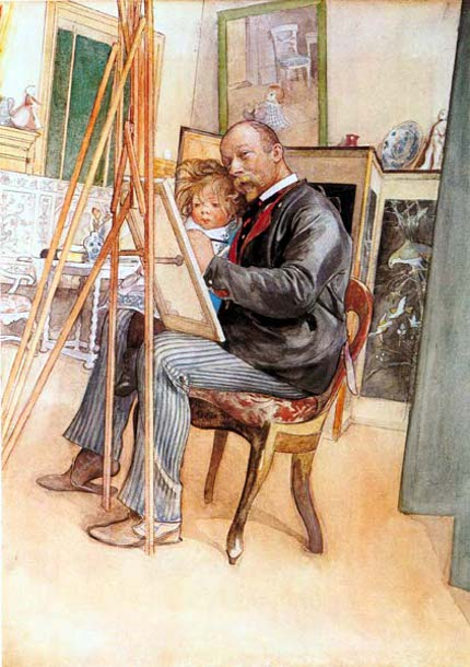 Larsson Seen in the Mirror, 1895