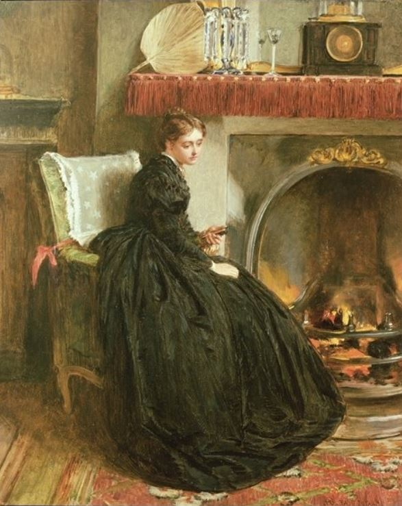 Lost in thought 1864 by Marcus Stone