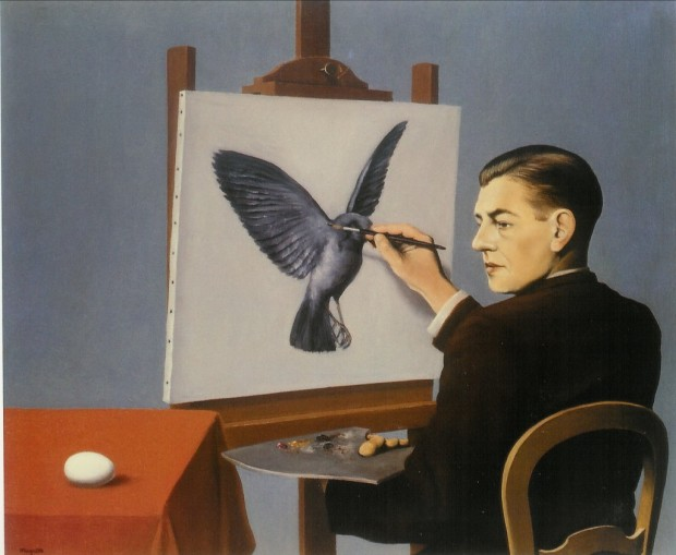 Magritte clairvoyance 1936