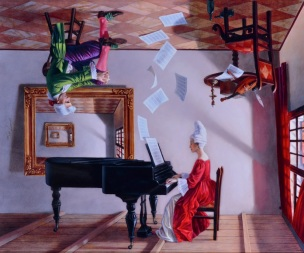 Michael Cheval Discord of Analogy 2015 renverse,
