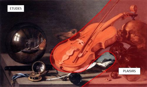 Pieter Claesz Vanitas with Violin and Glass Ball 1625 etude plaisirs