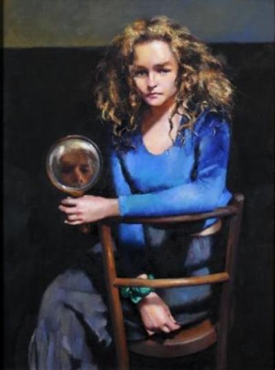 Robert Lenkiewicz Lisa Stokes Holding A Mirror