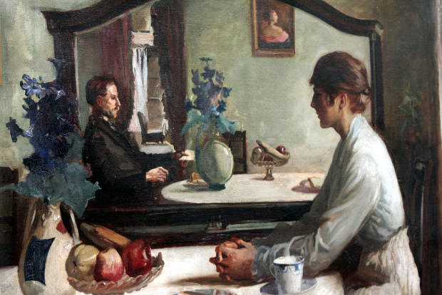 Sheehan, William The Consultation 1917 Crawford Municipal Art Gallery, Cork, Ireland