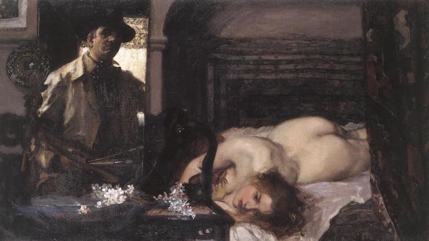 Stvan Csok (Hungarian, 1865-1961) Studio Interior. 1905 г. Hungarian National Gallery, Budapest