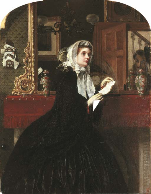 The Love Letter or The Appointment (1861), Rebecca Solomon