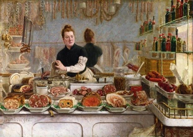 Une boutique de charcuterie Dambourgez 1886