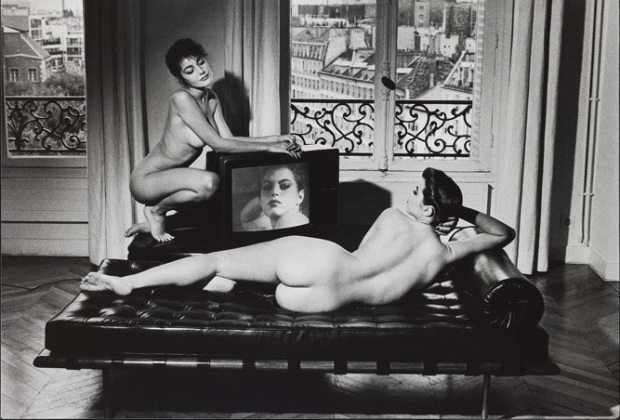 Velasquez in my apartment, Helmut Newton, 1981