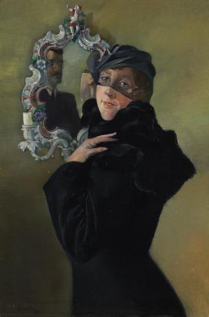 Vor-dem-Spiegel-Rokoko-1934-by-Conrad-Felixmuller-Coll-part