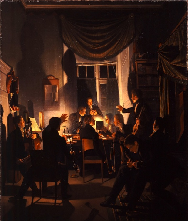 Wilhelm_Bendz_-_A_Smoking_Party_1827 28