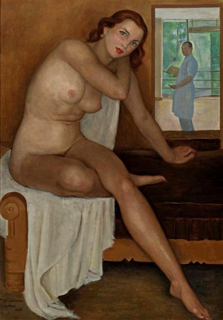 angel-zarraga self-portrait-with-model