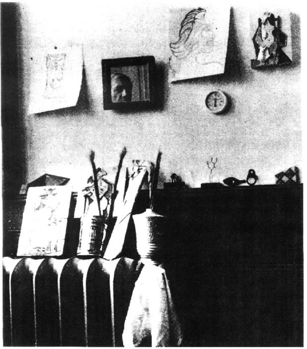 picasso autoportrait dans le miroir Royan, 1940.