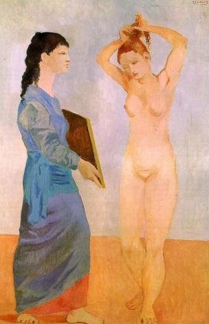 picasso_Femme a la toilette 1906 retournee Albright-Knox Art Gallery NY