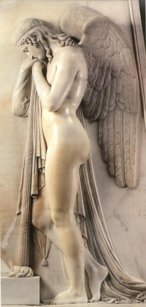 Canova tombeau des Stuarts Genie de la Mort Canova, 1829 Basilique Saint Pierre de Rome