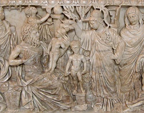 Sarcophage de Promethee Athena