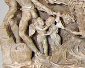Sarcophage de Promethee Eros et Psyche