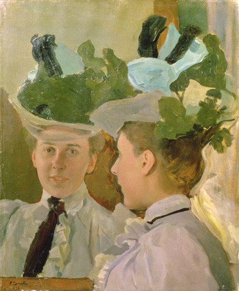 1898 Somov Femme au miroir