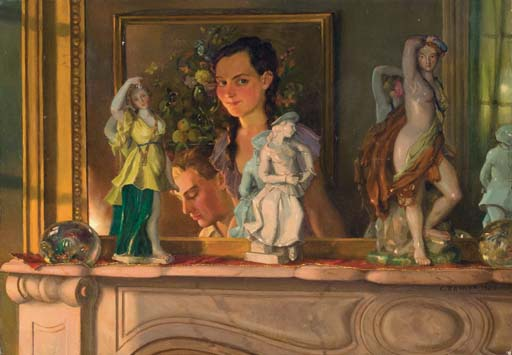 1933 Somov an intimate moment