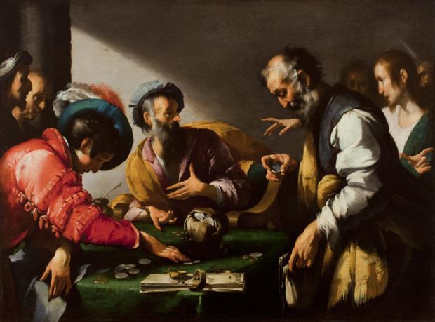 La vocation de saint Matthieu Bernardo Strozzi,  1620,  Art Museum, Worcester, Massachusetts