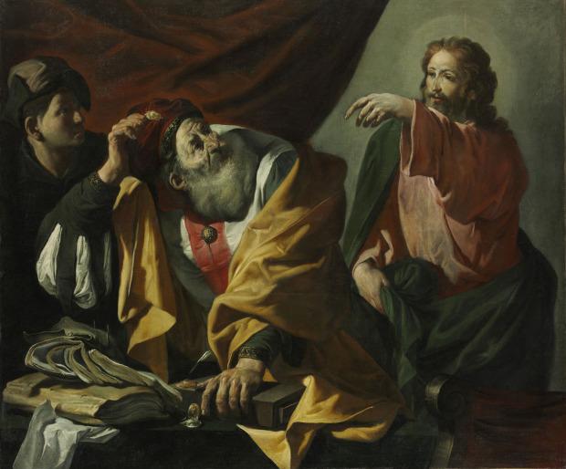 La vocation de saint Matthieu Hendrick ter Brugghen - 1616 Magyar Szepmuveszeti Muzeum,  Budapest