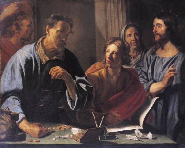 La vocation de saint Matthieu WAUTIER Charle fin XVIIeme musee des Augustins Toulouse
