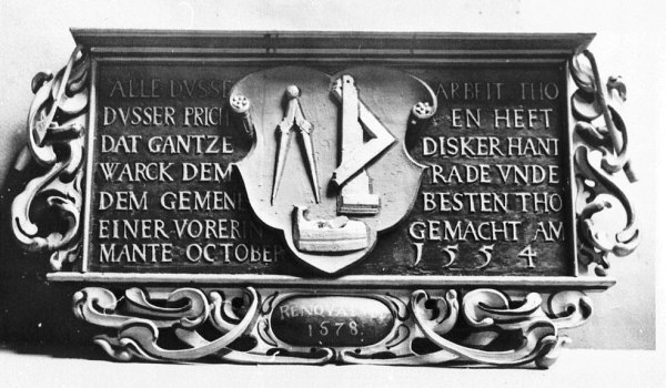 1554 cabinetmakers guild in the Church of the BrethrenStädtisches Museum Braunschweig