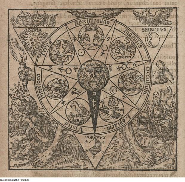 Azoth 1613 Basilius Valentinus  Beatus, Georg pentacle