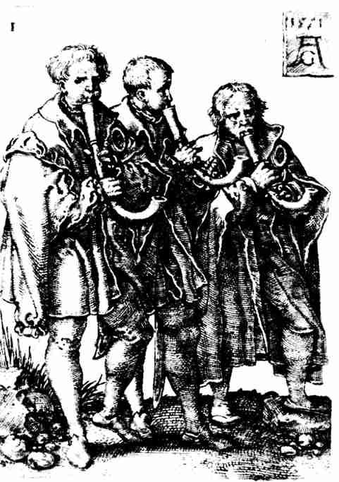Krummhorn Players, 1551 Heinrich Aldegraver