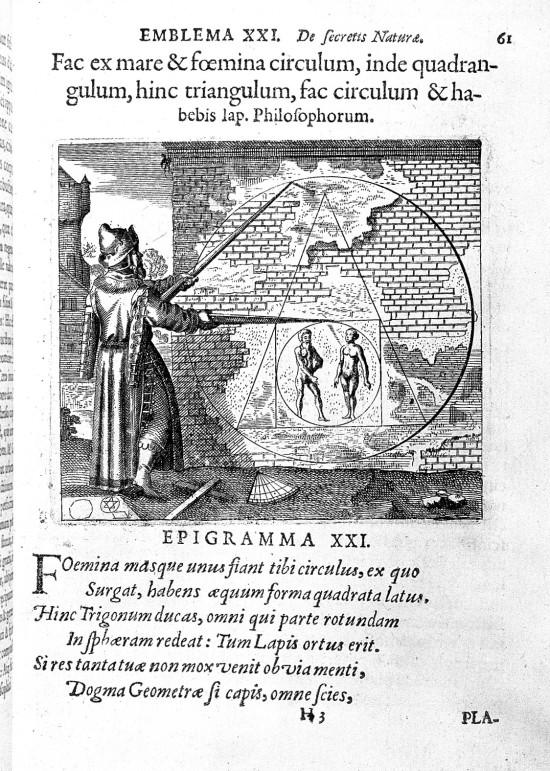 """L0000864 M. Maier; """"Secretioris naturae...""""; alchemical spell."""