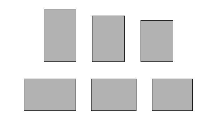 Trois  rectangles