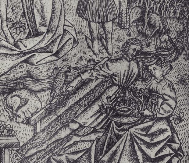 1450 ca Maitre des jardins d'amour Le grand Jardin d'Amour detail