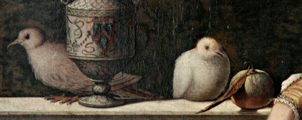1500 Carpaccio deux dames venitiennes colombes