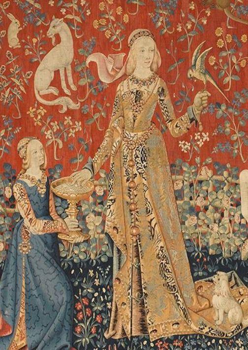 1500 (ca) Dame a la Licorne Gout (detail)