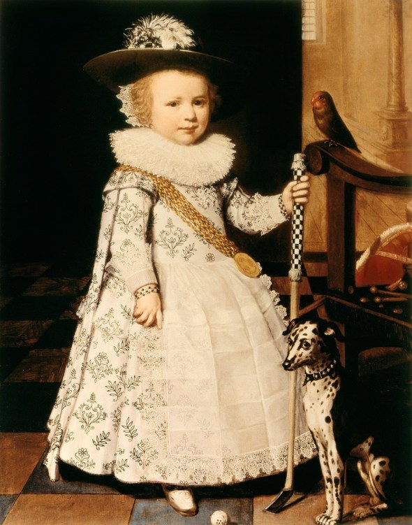 1628  Jan Anthonisz van Ravesteyn (Dutch painter, 1572-1657)  Young Boy with a Golf Club and Ball