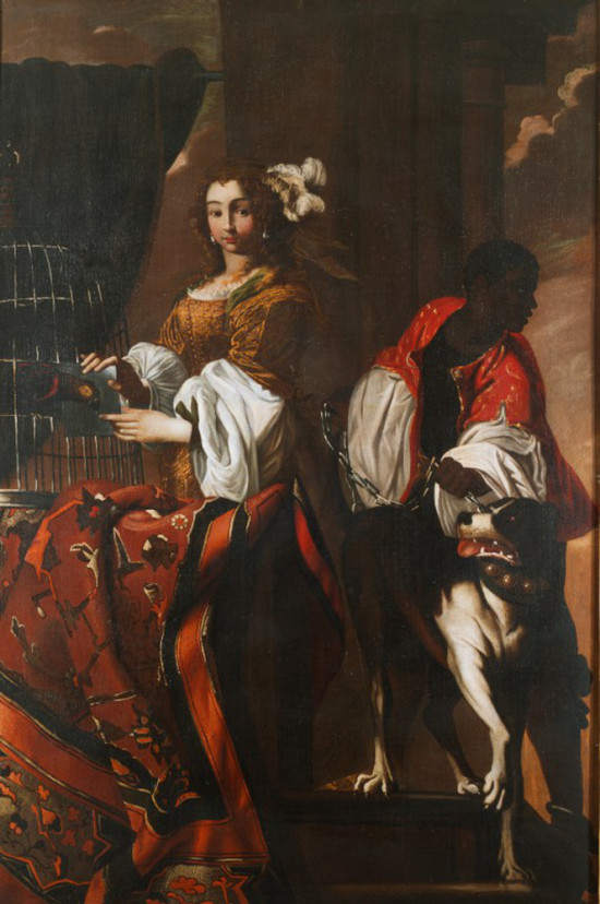 1650 ca Unknown Artist Ritratto di donna con servitore  Museo Diocesano di Milano Fondazione Cariplo Italia