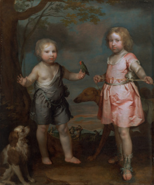 1670 ca Gilbert_Soest_-_Lord_John_Hay_and_Charles,_Master_of_Yester_(later_3rd_Marquis_of_Tweeddale)_Yale Center for British Art -Google_Art_Project