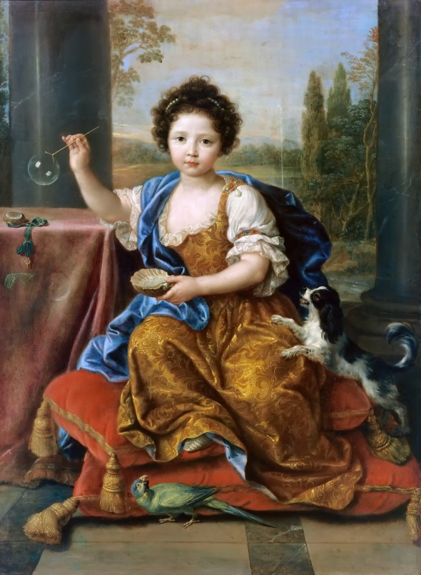 1682 (ap) Pierre Mignard, Louise-Marie de Bourbon, Mademoiselle de Tours, fille illegitime de Louis XIV et Madame de Montespan Musee de Versailles