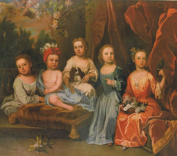 1718 James Maubert A portrait group of the Smith children