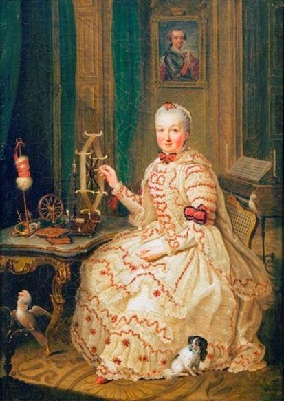 1750 ca Kurfurstin Maria Elisabeth Auguste von der Pfalz by Johann Georg Ziesenis