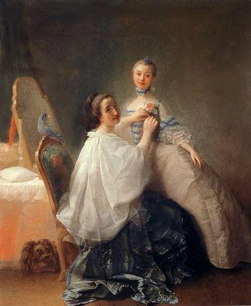 1755-60 Alexander Roslin, Avant la premiere rencontre