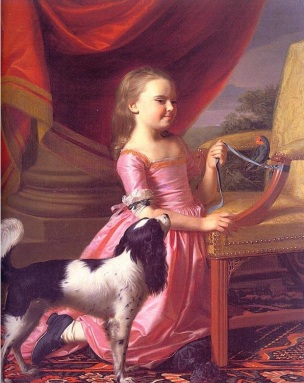 1767 John Singleton Copley Young Lady with a Bird and Dog The Toledo Museum of Art Ohio, US