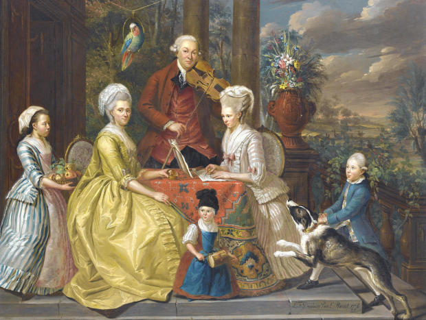 1776 Louis Francois Gerard van der Puyl (Utrecht 1750-1824) Portrait of the van Assche family